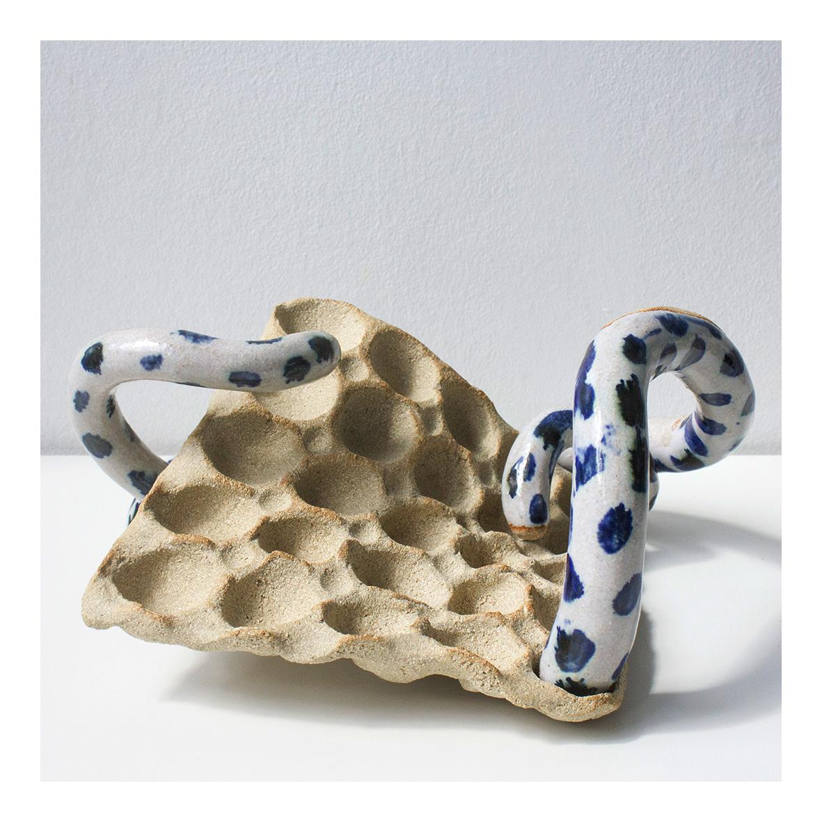 @veronika_neukirch Coral Connect 4 (2020) Glazed Stoneware 16 x 25 x 22cm