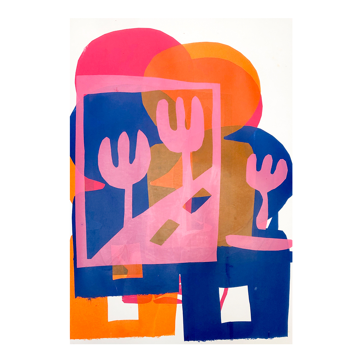 alice irwin Together, (2020) Screenprint on paper 45 x 56 cm
