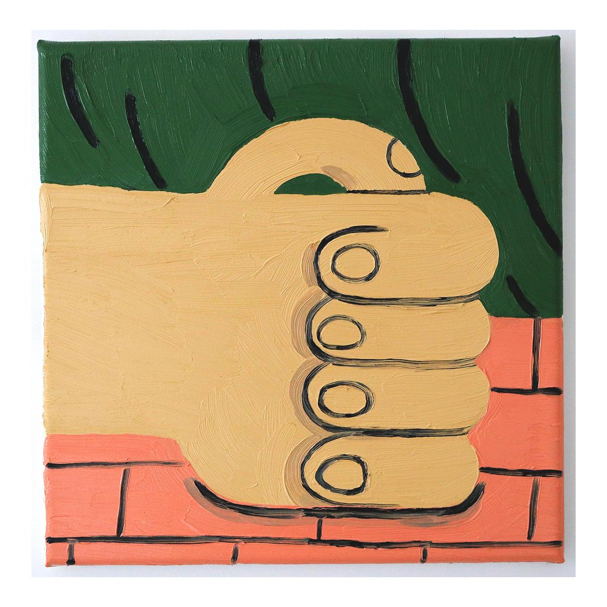 @hannahwwilson Hand (Study), 2020 Oil on Canvas 30 x 30cm