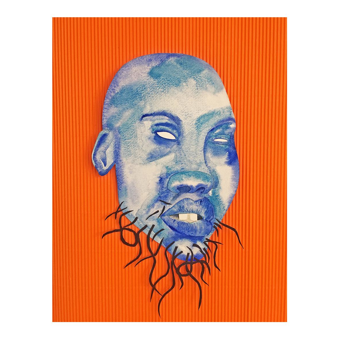 Josephine Chime (@jaccartist) Conundrum, (2020) Watercolour, collage paper 22 x 30 cm